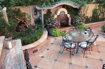 Paver Patio With Outdoor Furniture