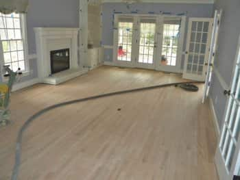 raleigh flooring specialist refinishes red oak hardwood 1 3
