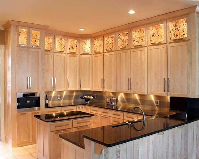Wonderful Resurfaced And Tiger Wood Kitchen Cabinets