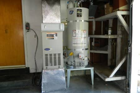 HVAC system and water heater