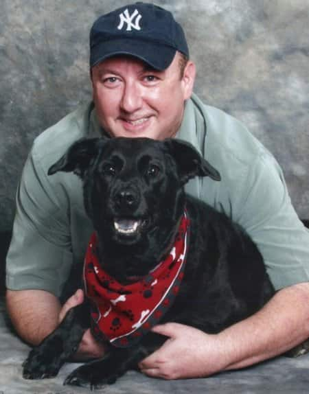 Jon Sutz says his dog, Shayna, saved his spirit. (Photo by Pet-ography)