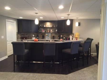 Basement Bar, Wet Bar, Remodeled Basement