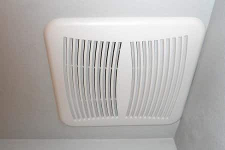 An Exhaust Fan Pulling Warm Moist Air From The Bathroom And Distributes The  Air To The