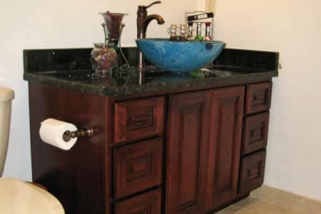 bathroom cabinet with bowl sink