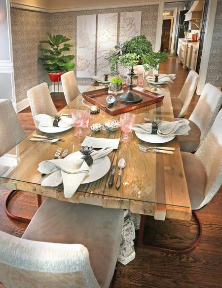 dining room, dining table, staged home
