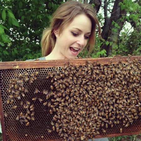 Kate Franzman started Bee Public after working on an urban farm. (Photo courtesy of Kate Franzman)