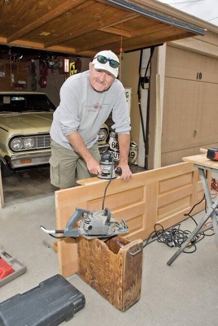 door contractor working on a door