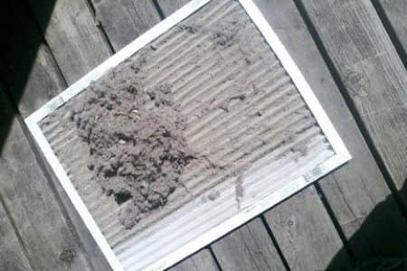 clogged furnace air filter