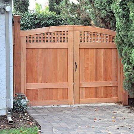 Custom driveway gates like this one can be constructed to meet a homeowner's every need.