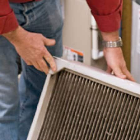 Replacing the air filter will improve air quality and extend the life of a furnace.