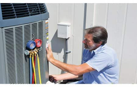 HVAC technician at work
