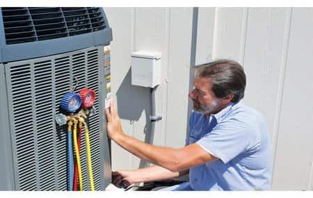 HVAC technician at work