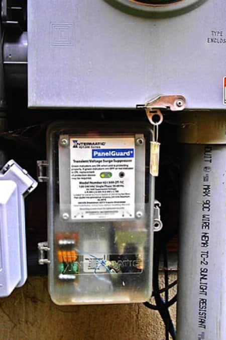 Whole House Surge Protection Beneath Circuit Breaker Panel