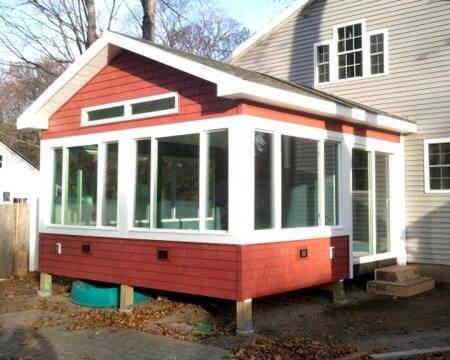 enclosed porch with windows