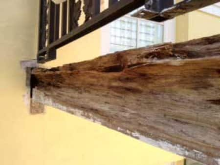 This beam served for 74 years before needing reconstruction. (Photo courtesy of Tom Southern)