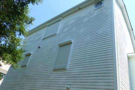 hurricane shutters on house