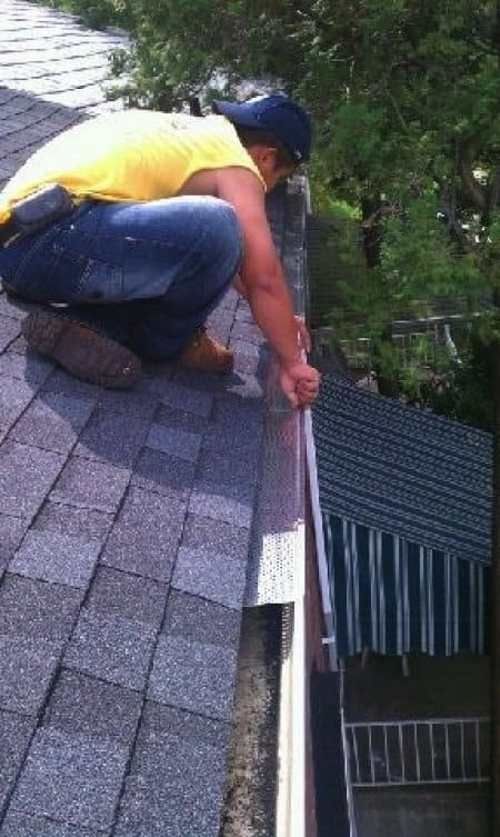 Gutter guards play an important role in preventing debris from clogging gutters and causing water backup. (Photo courtesy of Angie's List member Rachel S. of Ellicott City, Maryland)