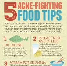 5 Acne-Fighting Food Tips