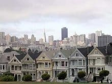 The Painted Ladies in San Francisco's Alamo Square Park are some of the most famous Victorian homes in the country. (Photo by Katie Jacewicz)