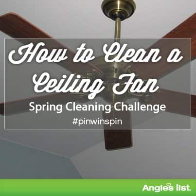 tips for cleaning your ceiling fan