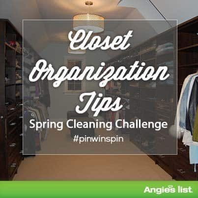 tips for organizing your home's closet