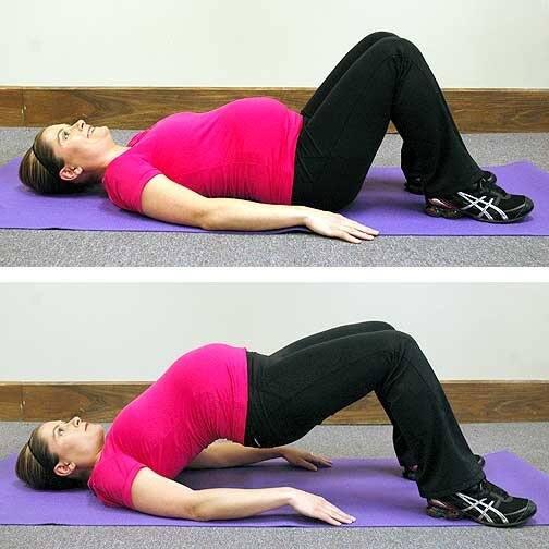 pregnancy exercises - hip bridge