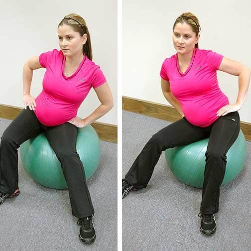 pregnancy exercises - perineum stretch