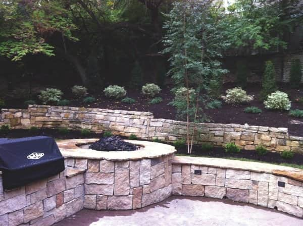Lawn & Landscape Solutions created a usable outdoor space for grilling. (Photo courtesy of Cheryl Litwin)