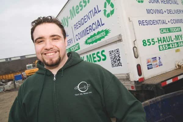 Todd Stevens, an employee of Haul-My-Mess.com. Haul-My-Mess.com, located in Cleveland, strives to recycle 80 percent of items it collects. (Photo courtesy of John Quinn)