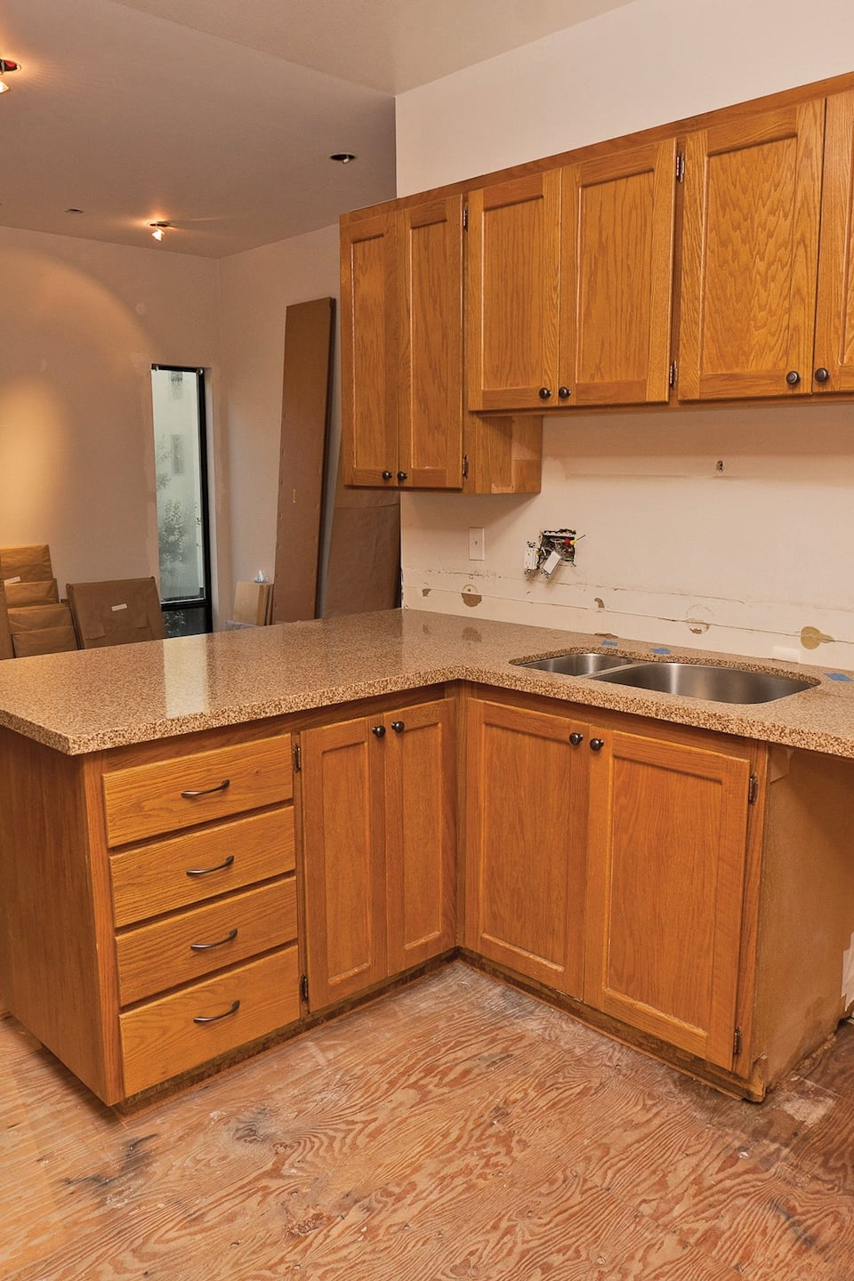 existing cabinets can be resurfaced and made new