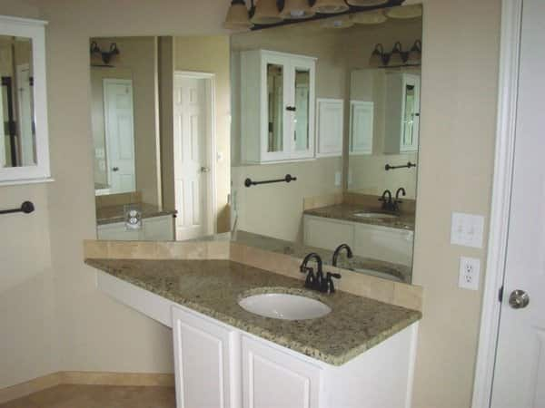 Canter now has granite countertops with a tile backsplash and new fixtures. (Photo courtesy of Anna Canter)