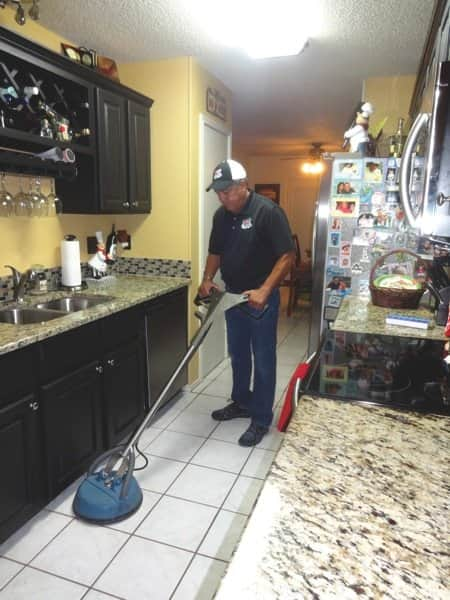 Heaven's Best Carpet Cleaning services also include tile, grout and upholstery. (Photo courtesy of Art Pacheco)