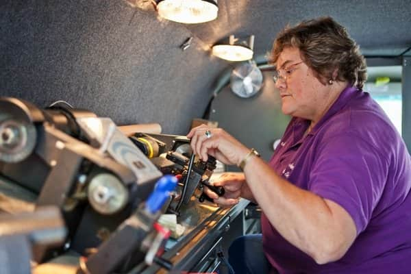A 15-time Super Service Award winner, Indianapolis locksmith Jan Cornett believes she's found her niche. (Photo by Brandon Smith)