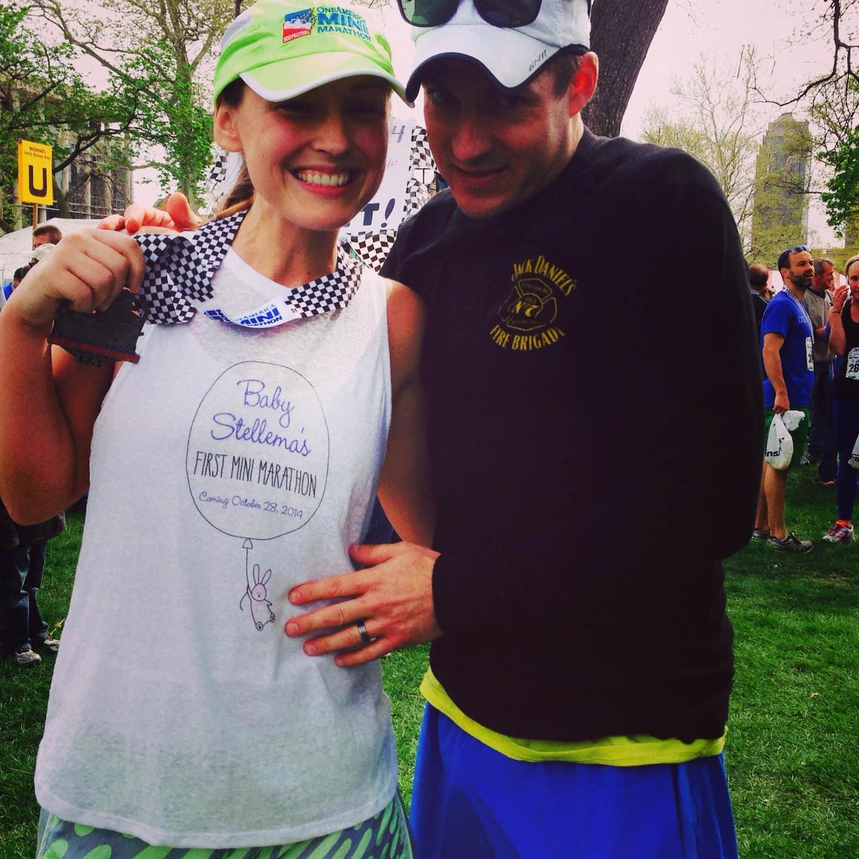 Sara Stellema carried precious cargo with her during the mini-marathon. (Photo courtesy of Sara Stellema)