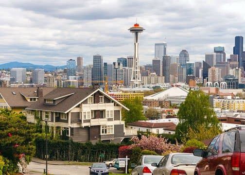 The Space Needle takes up valuable real estate in Seattle's city skyline. (Photo by Mike Penney)