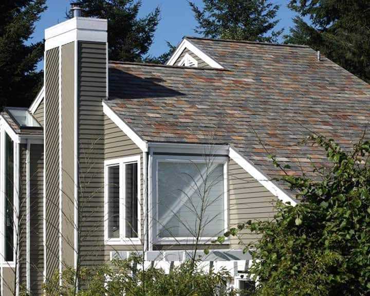 Seattle roofing company installs slate roof