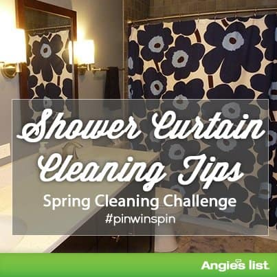 Shower curtain cleaning tips