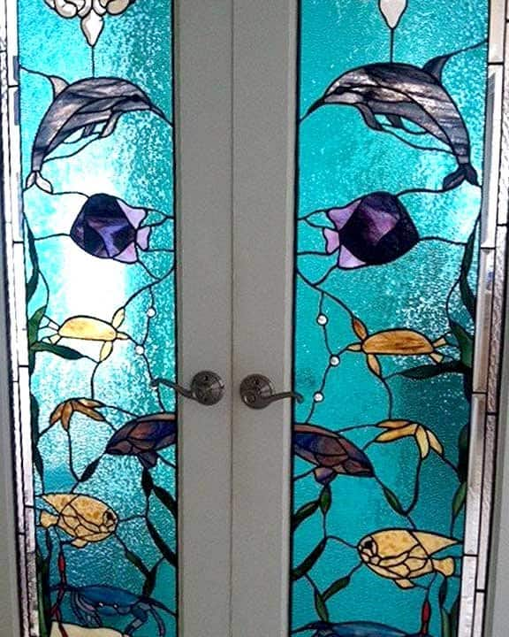 stained glass windows on front doors