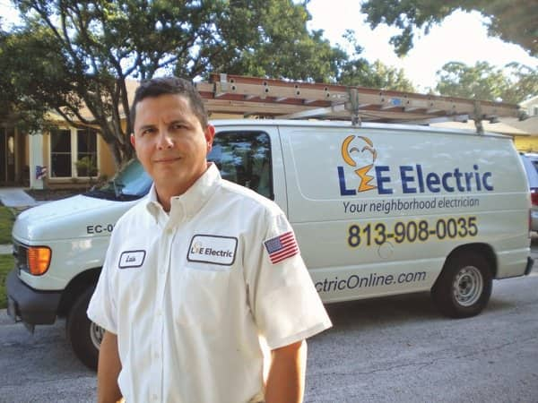 Highly rated Tampa electrician Luis Espel recommends protecting electronics with both whole-house and plug-in surge protectors. (Photo courtesy of Lee Electric)