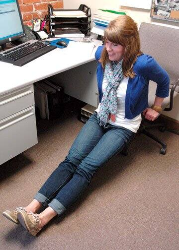 advanced chair dips - exercises you can do at your desk at work