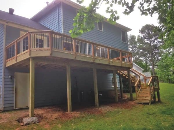 Decks & Porches Unlimited, of Buford, Ga., built this deck for Angie's List member Justin Machado. (Photo courtesy of Justin Machado)