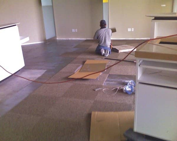 Pro Flooring 323 installs carpet, hardwood and tile, but also does flooring restoration and repairs. (Photo courtesy of Cesar Del Aguila)
