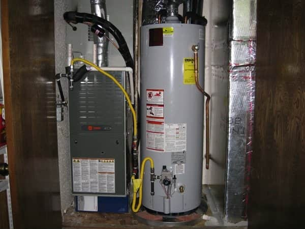 This member had a new water heater installed at this home. (Photo courtesy of Angie's List member Steven C. of Austin, Texas)