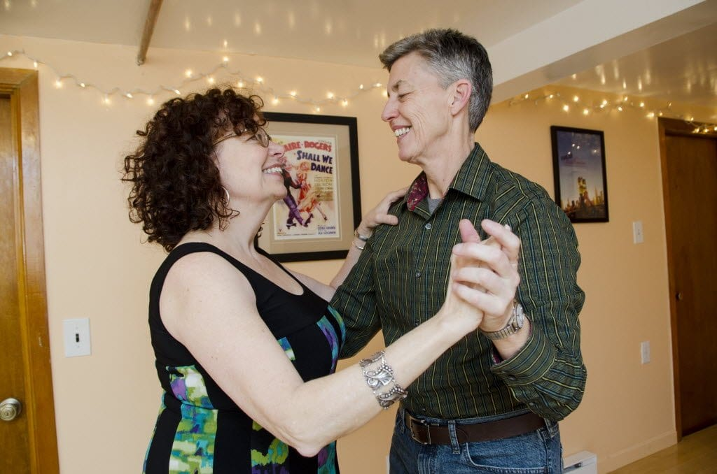 a couple at dance lessons
