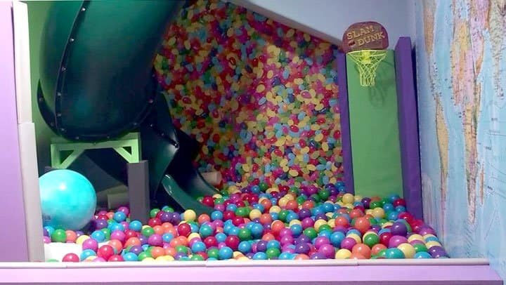 home with ball pit