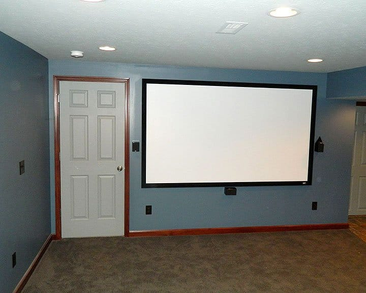 projector screen in home theatre