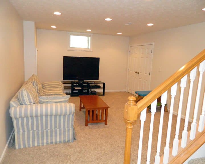 basement remodel with new living space