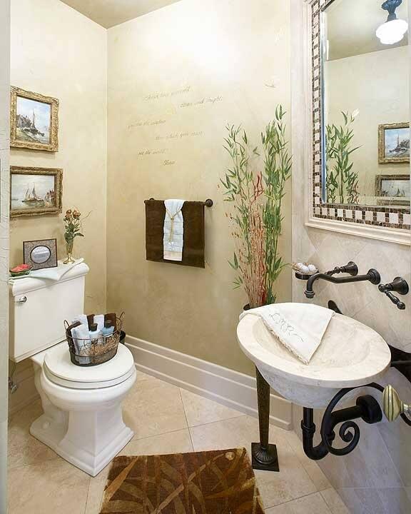 bathroom remodel with earth tones