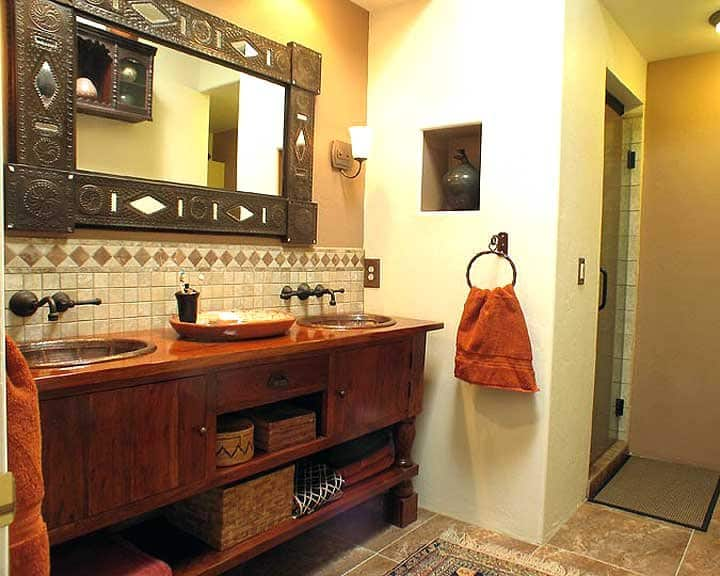 bathroom remodel with double sinks