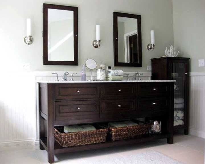 bathroom remodel with double sink vanity